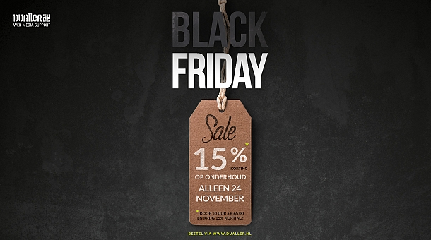 Black Friday aanbieding 2017 | Dualler