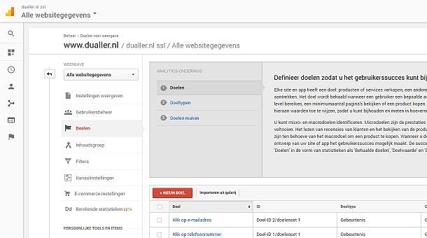 Kliks op e-mailadressen en telefoonnummers meten met behulp van Events in Google Analytics