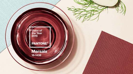 Patone kleur van het jaar 2015 Marsala - Dualler