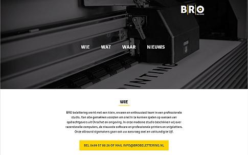 BRO belettering responsive one-page website   Dualler