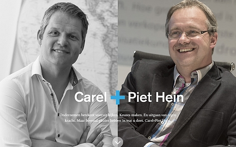 Responsive One-Page website Carel + Piet Hein - Dualler