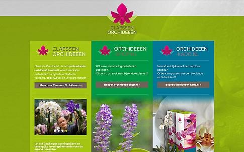 Claessen Orchids | Responsive website door Dualler