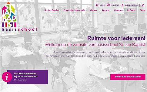 Responsive website in opdracht van Basischool St. Jan Baptist | Dualler