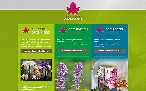 Claessen Orchids | Responsive website door Dualler