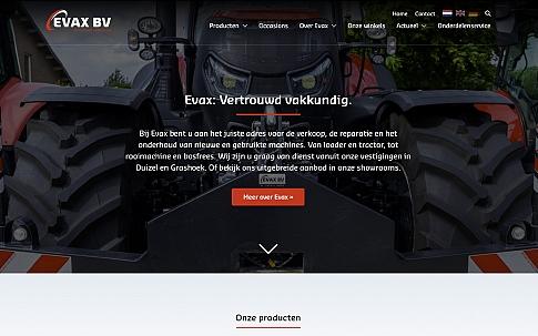 Responsive maatwerk website voor Evax | Dualler