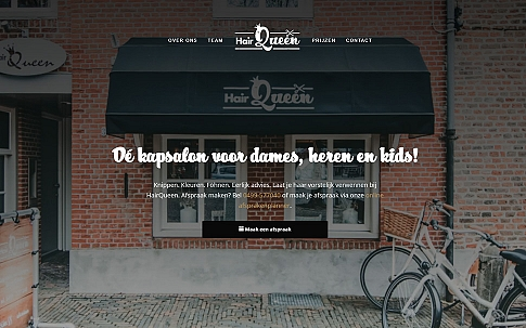 Webdesign Responsive WordPress website HairQueen Oirschot | Dualler