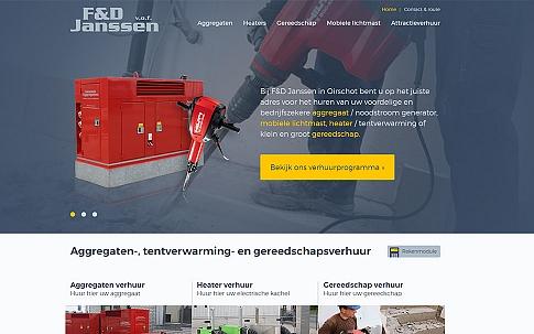 Responsive website in opdracht van F&D Janssen uit Oirschot | Dualler