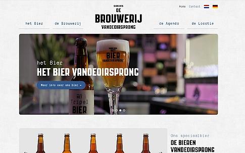 Responsive website voor De Brouwerij Vandeoirsprong | Dualler