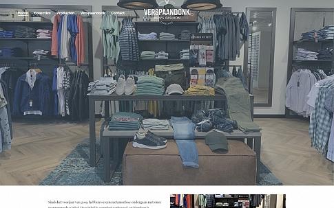 Responsive website voor Verspaandonk Herenmode| Dualler