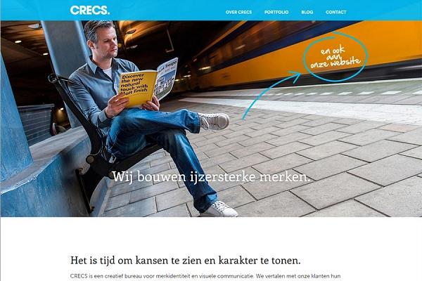 Responsive website voor Crecs