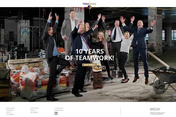 Responsive website voor FiMek estate bv