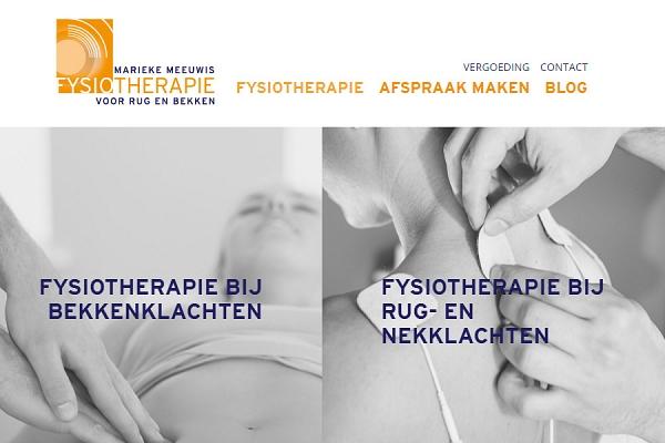 Responsive website voor Fysiotherapie Marieke Meeuwis | Dualler