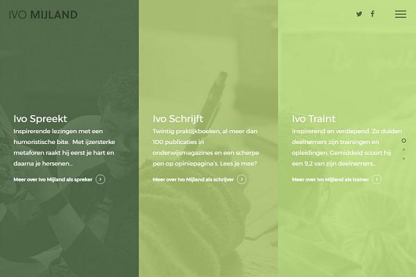 Responsive WordPress website voor Ivo Mijland | Dualler