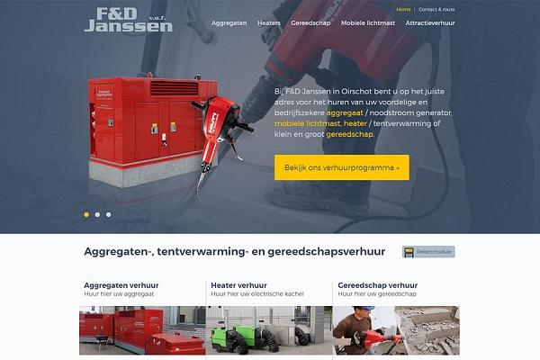 Responsive website voor F&D Janssen uit Oirschot | Dualler