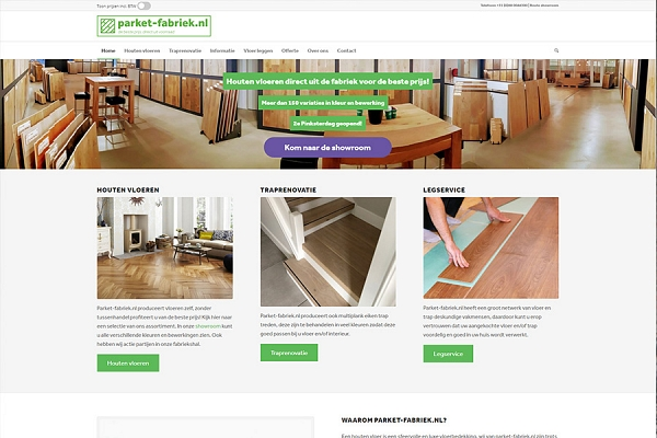 Responsive WordPress website parket-fabriek.nl | Dualler