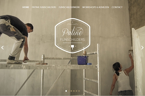 Responsive website Patine - screenshot - Dualler