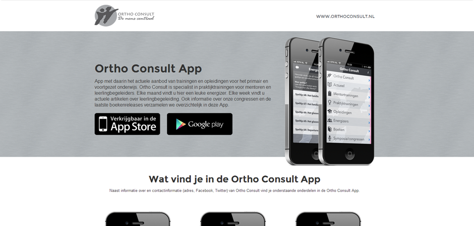 Ortho Consult App website