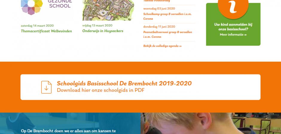 Website voor Basisschool De Brembocht | Dualler