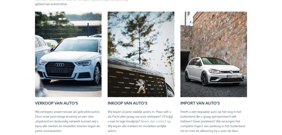 WordPress website voor Connect Automotive Retail | Dualler