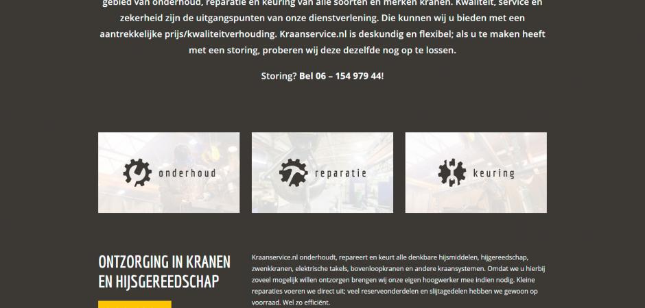 WordPress website voor Kraanservice.nl | Dualler