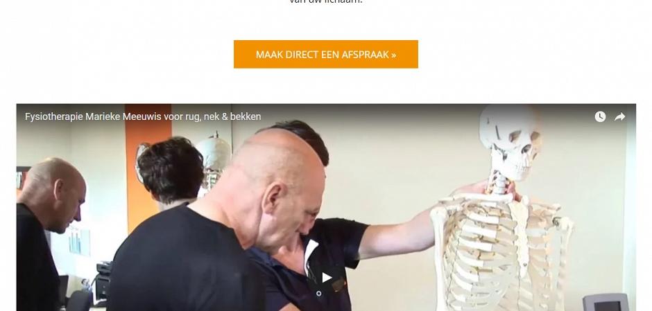 Responsive website in opdracht van Marieke Meeuwis Fysiotherapie | Dualler