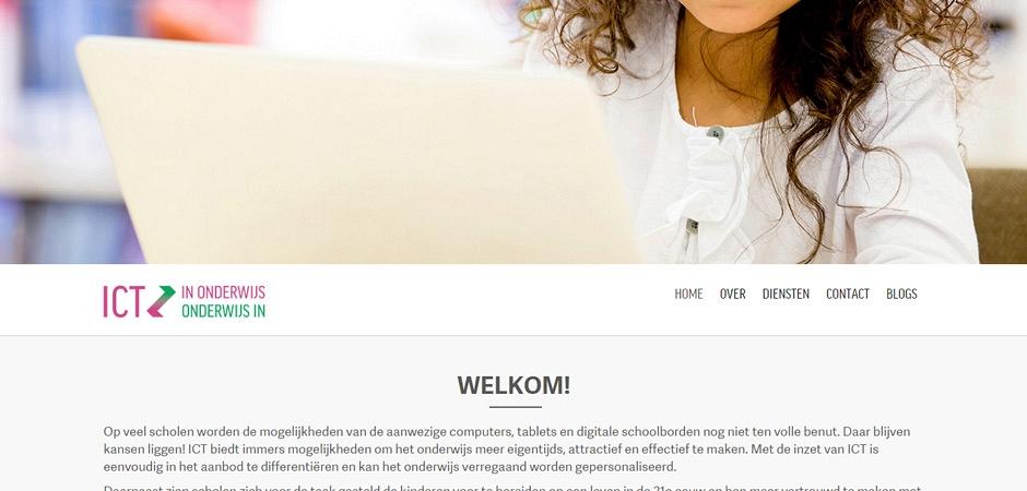 Responsive WordPress website voor ICT IN ONDERWIJS ONDERWIJS IN ICT