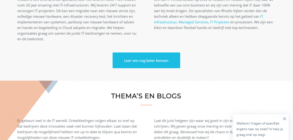 Responsive WordPress website voor Rhodix IT Services | Dualler