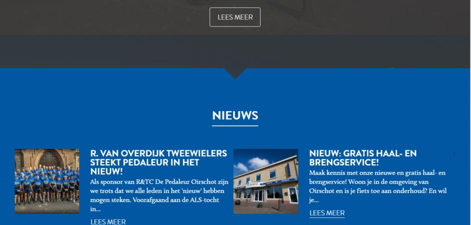 Responsive maatwerk website Van Overdijk Tweewielers | Dualler