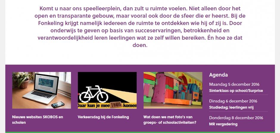 Responsive website basisschool | Dualler webdesign