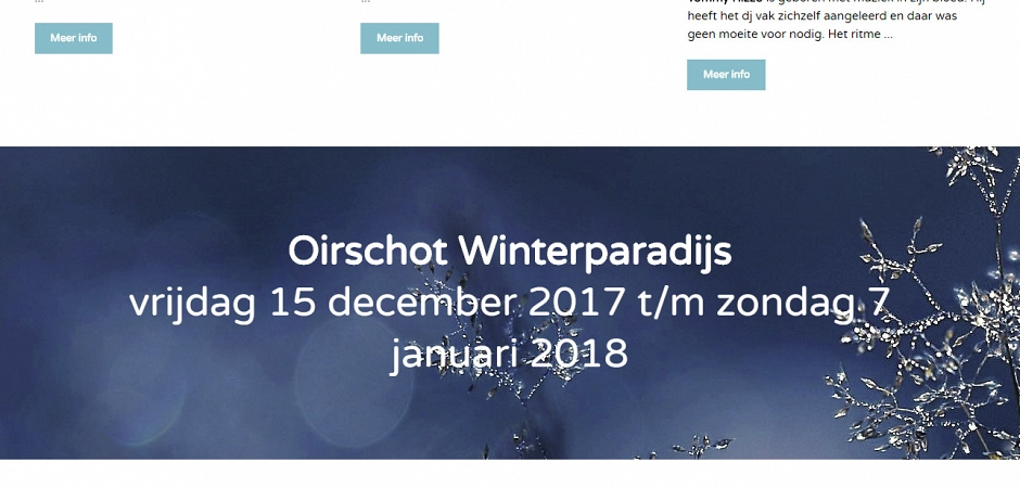Responsive Wordpress website Oirschot Winterparadijs | Dualler
