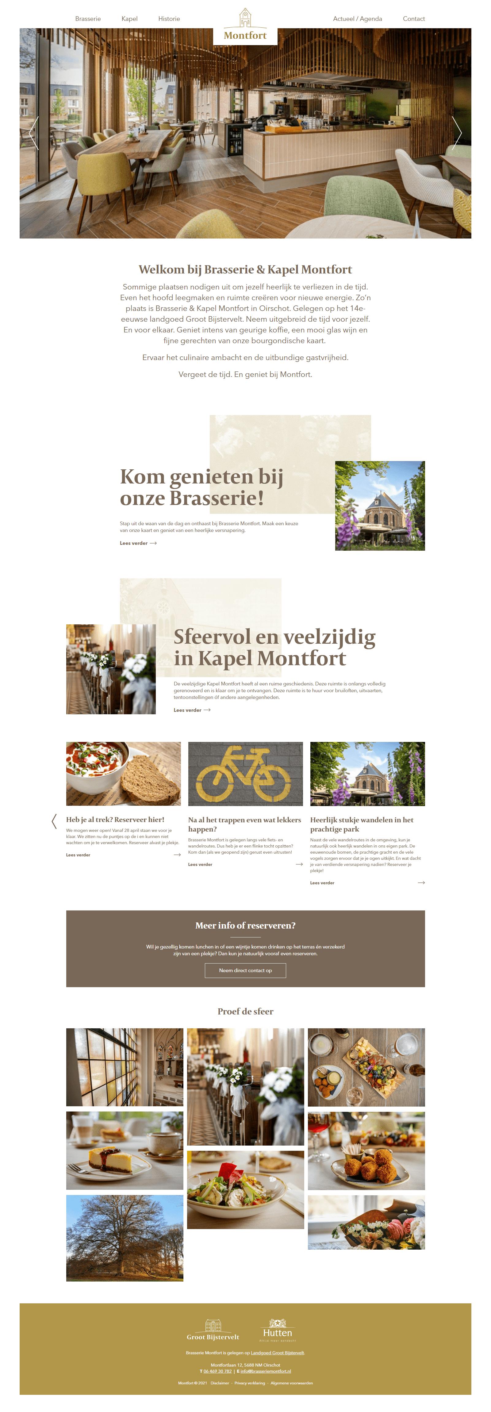 Responsive website voor Brasserie Montfort | Dualler