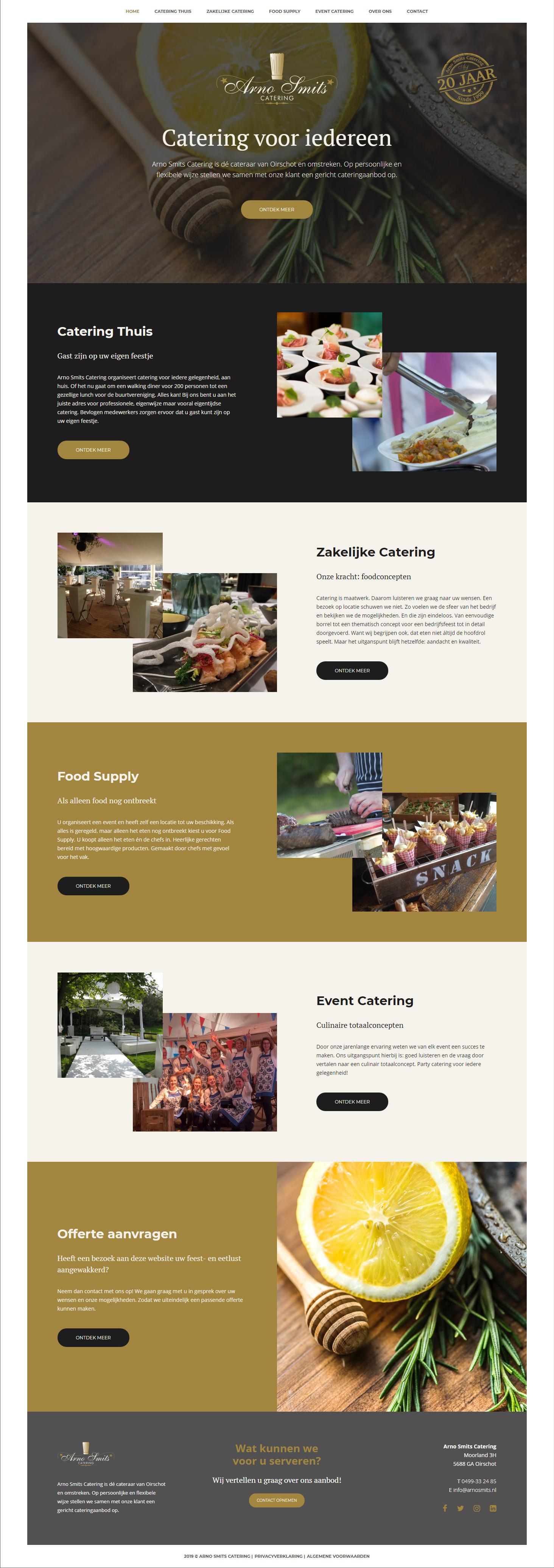 Responsive website voor Arno Smits Catering   Dualler webdesign Oirschot