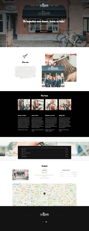 Responsive WordPress website HairQueen Oirschot   Dualler