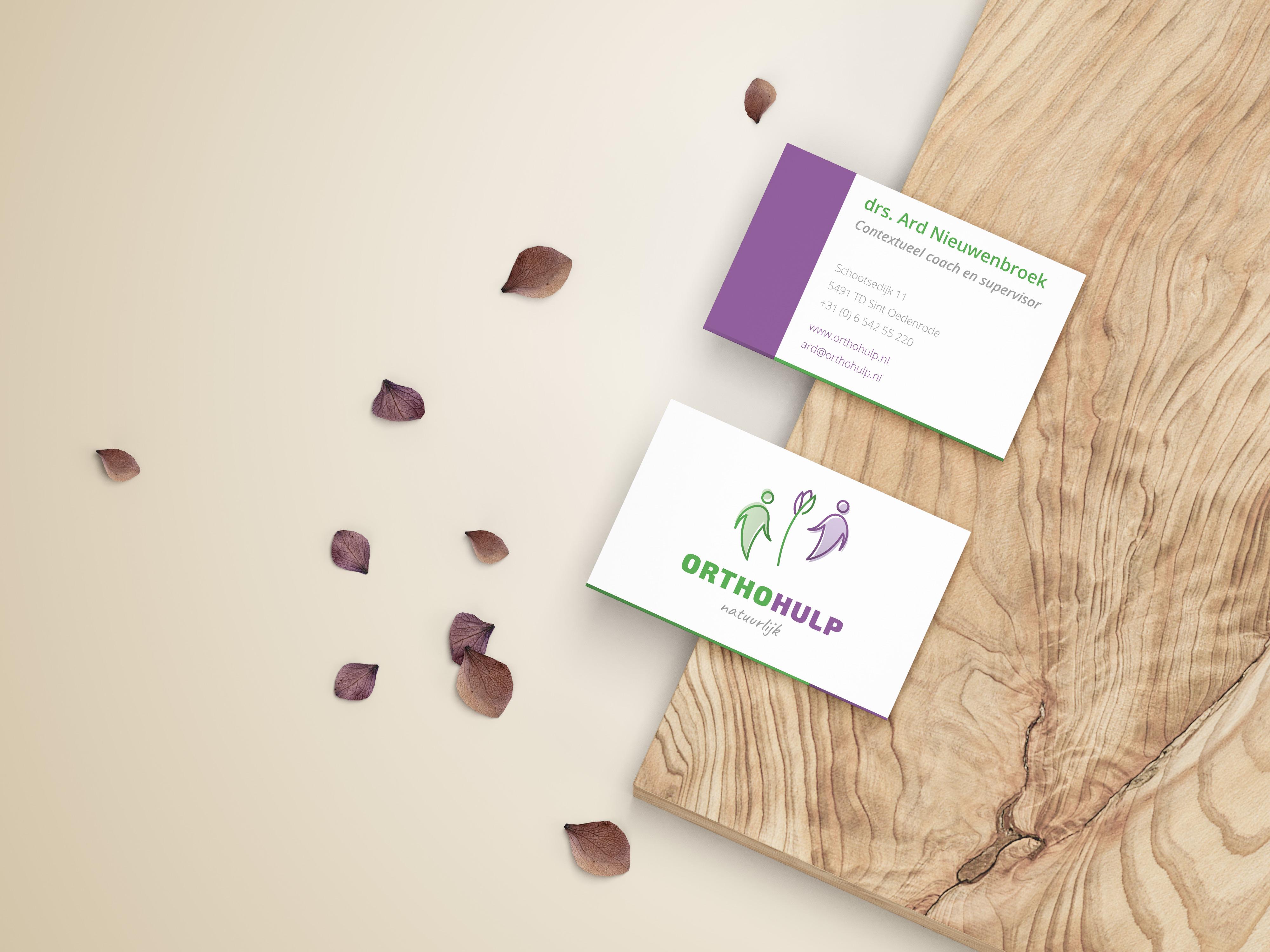 Visitekaartje voor OrthoHulp | Dualler