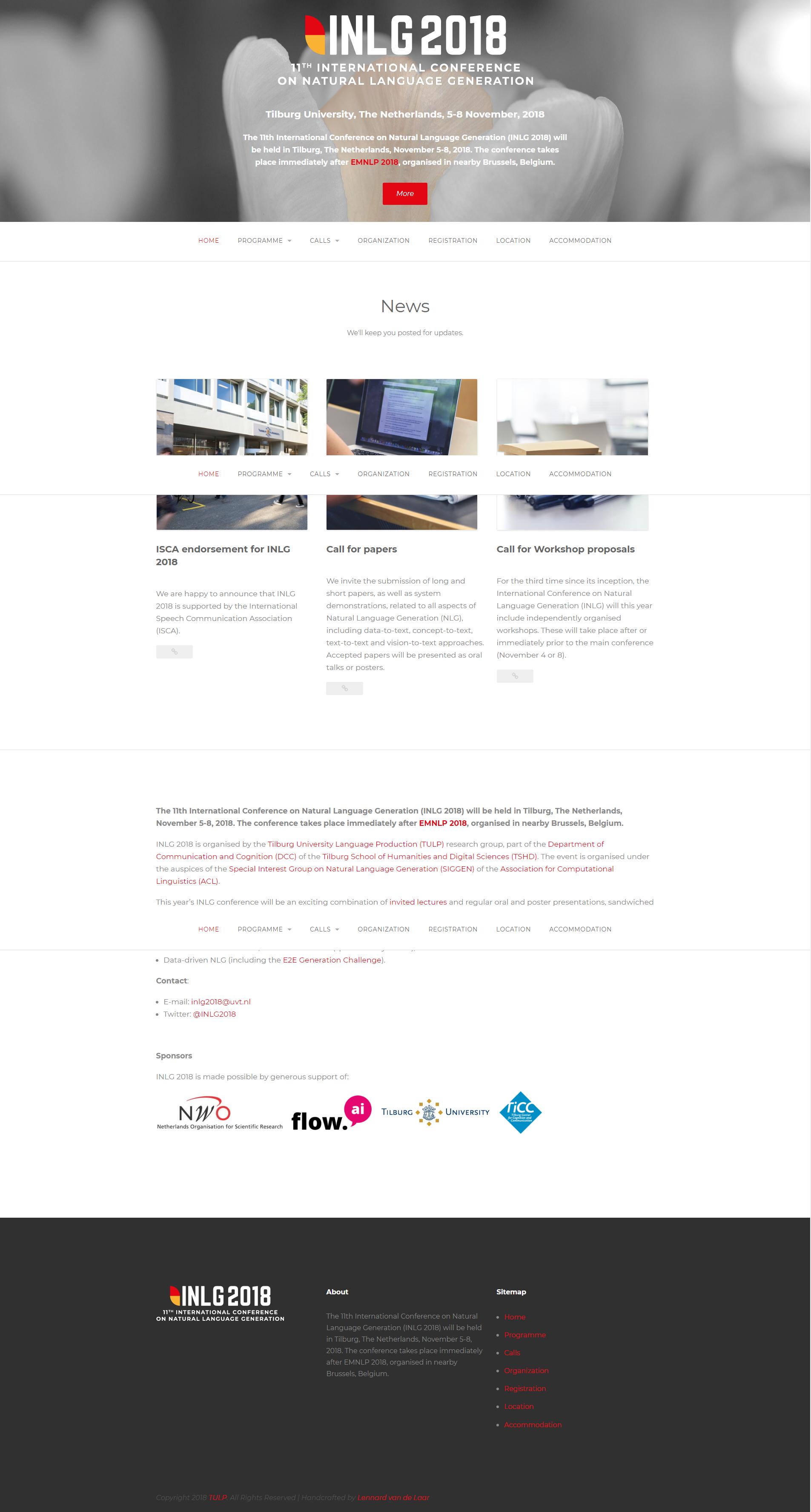 WordPress website INLG 2019 | Dualler