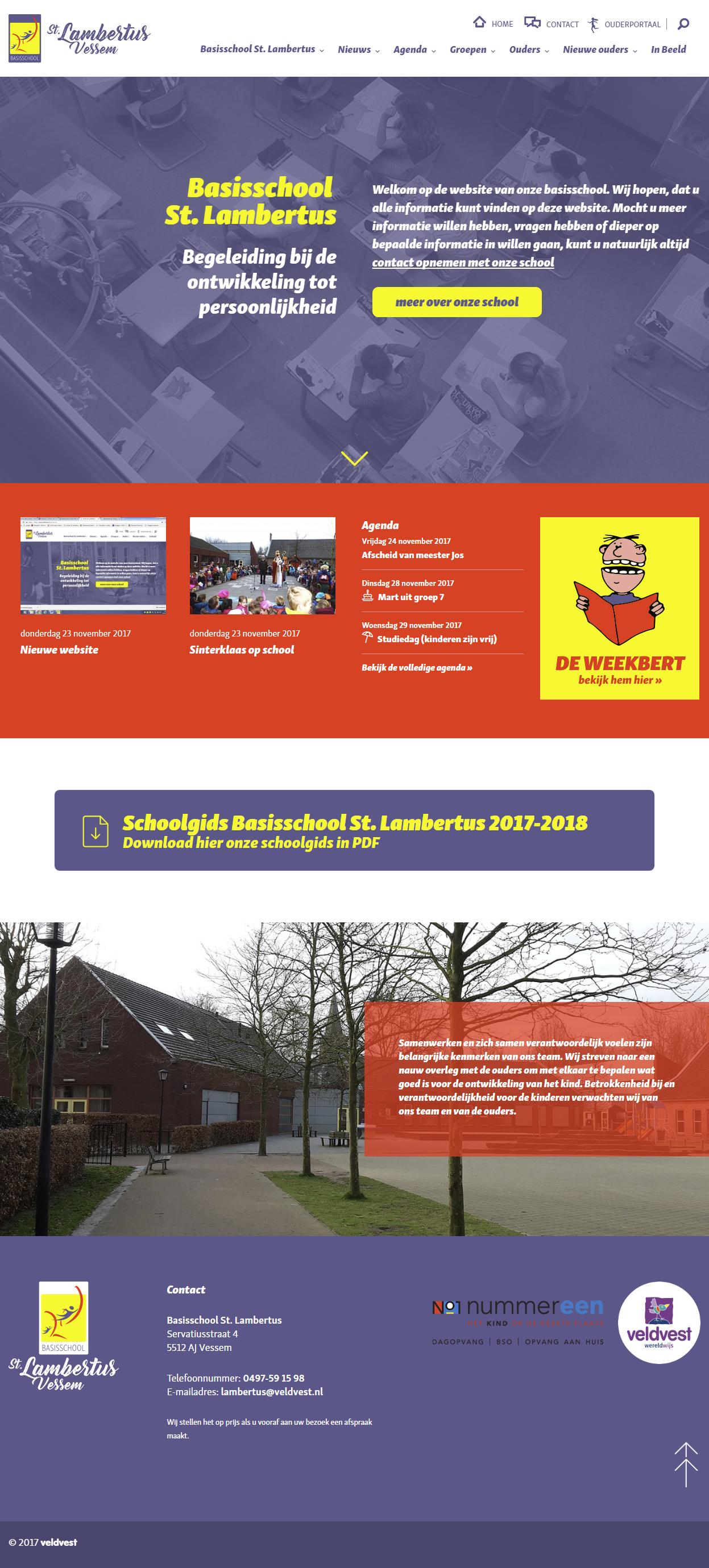 Responisve website Basischool St. Lambertus   Dualler